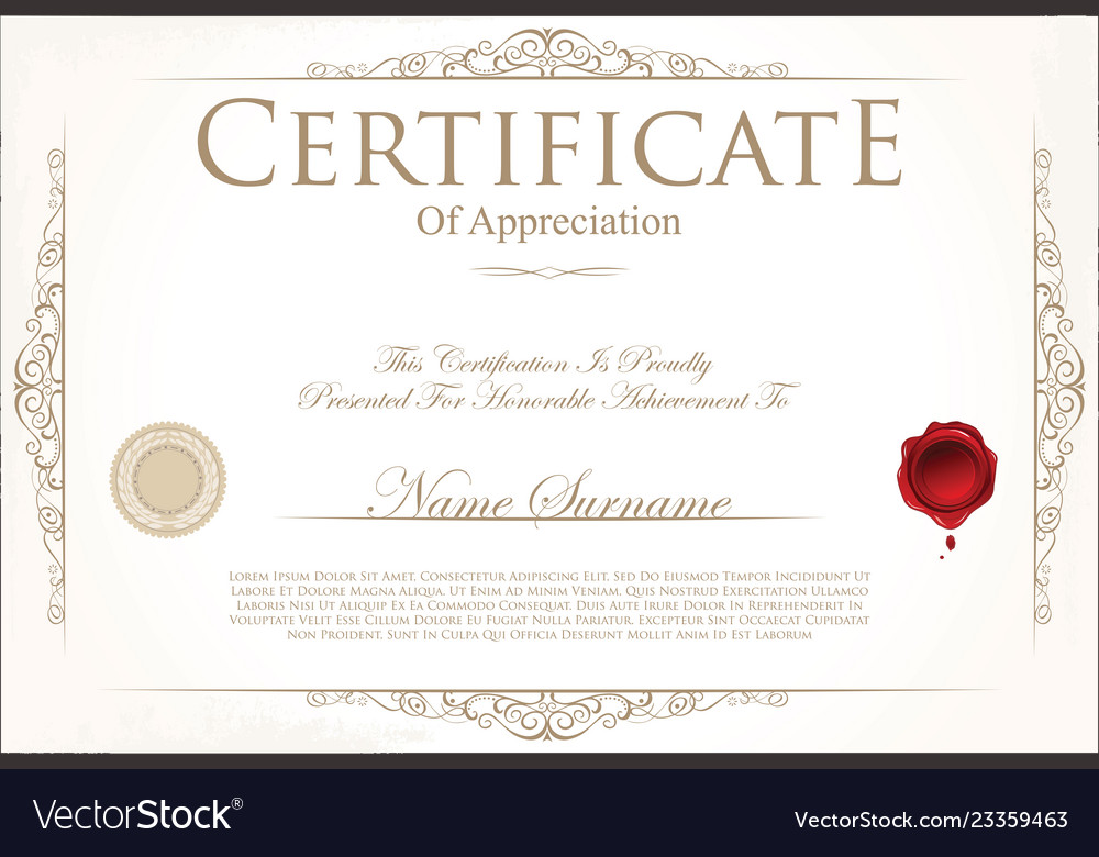 Certificate Or Diploma Template 5 Royalty Free Vector Image