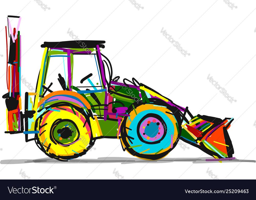 Escavator sketch for your design
