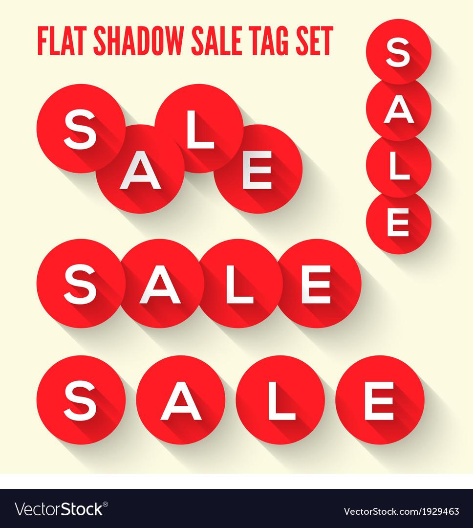 Modern flat sale tags set vector image