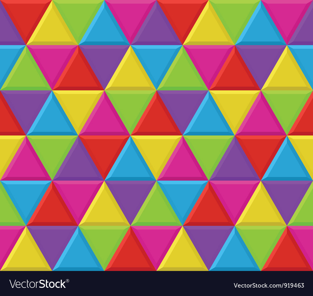 Multicolored triangles seamless background pattern