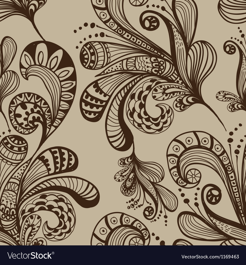 Seamless great floral background