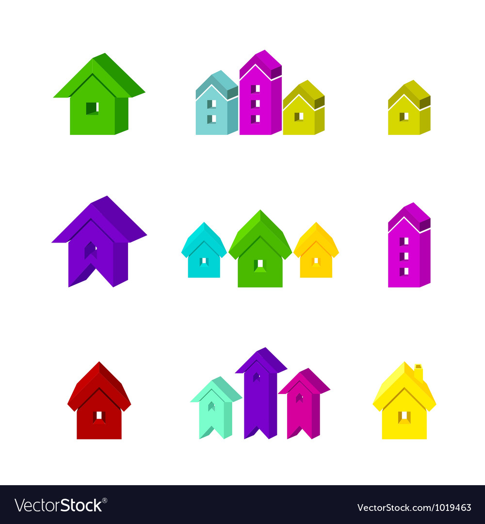 Set of house icon for advertising real estate