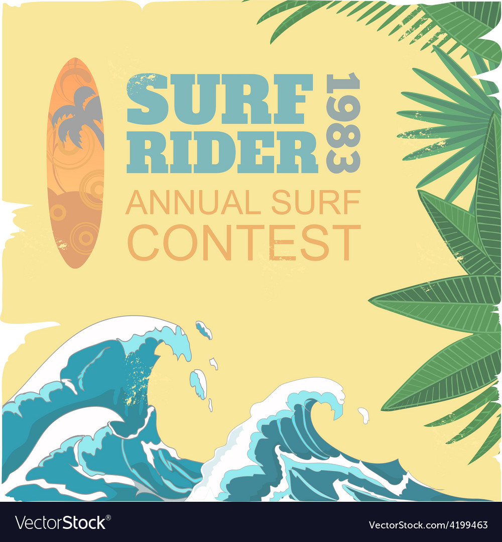 Sport surf typography t-shirt graphics