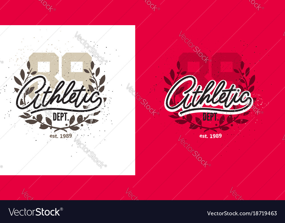 Vintage sports art print vector image