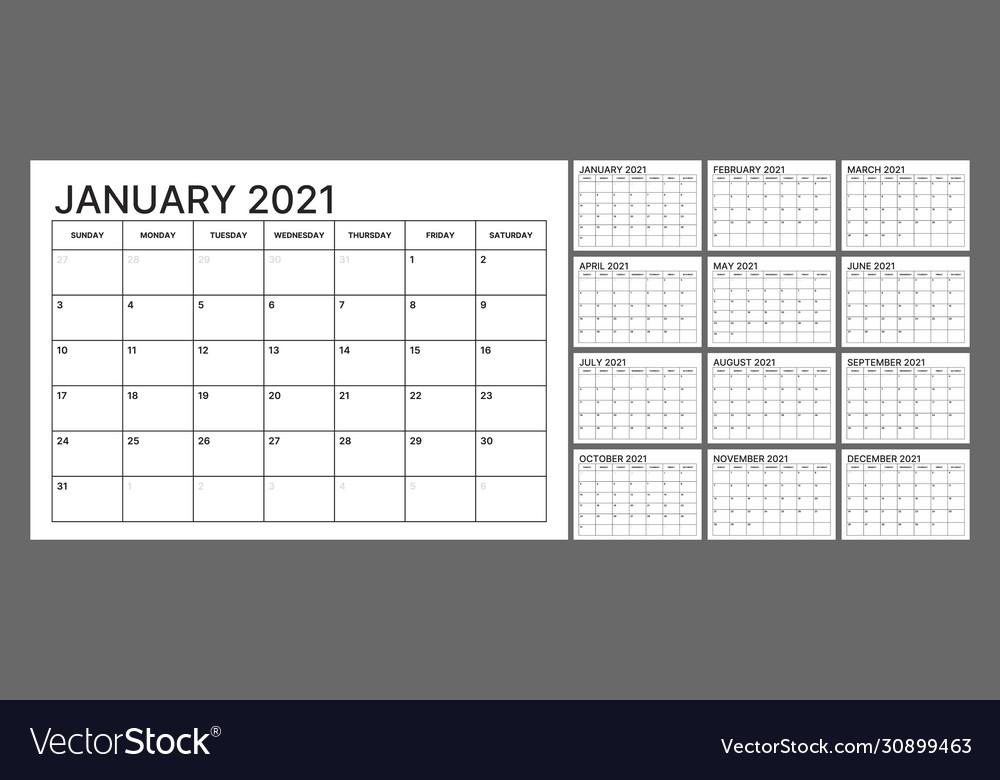 Wall Calendar Block Print 2021 | Printable March