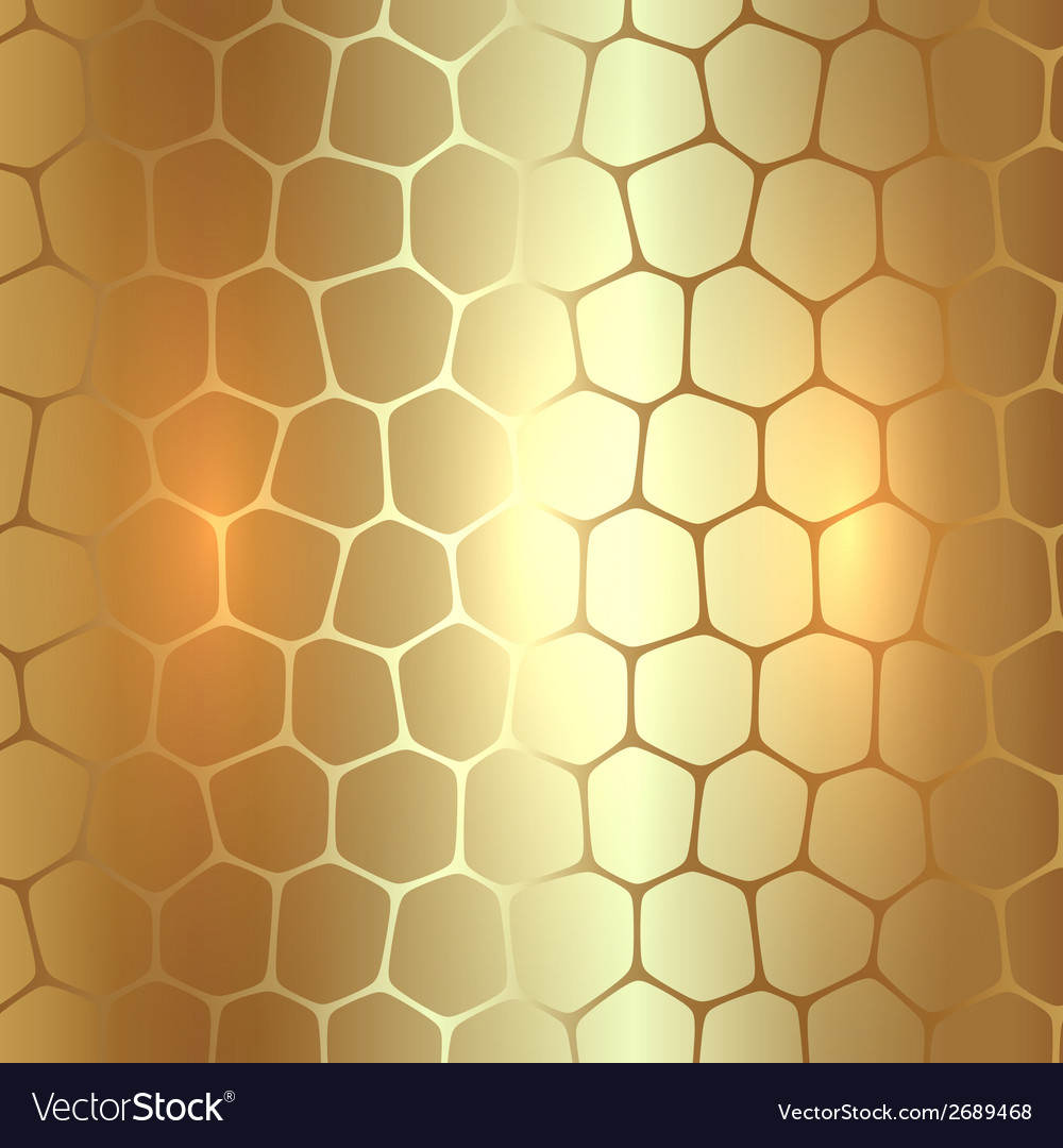 Abstract metal gold background with polygons