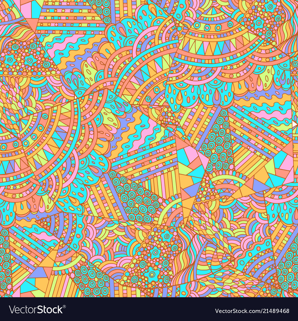Geometric pattern with pastel colors ethnic
