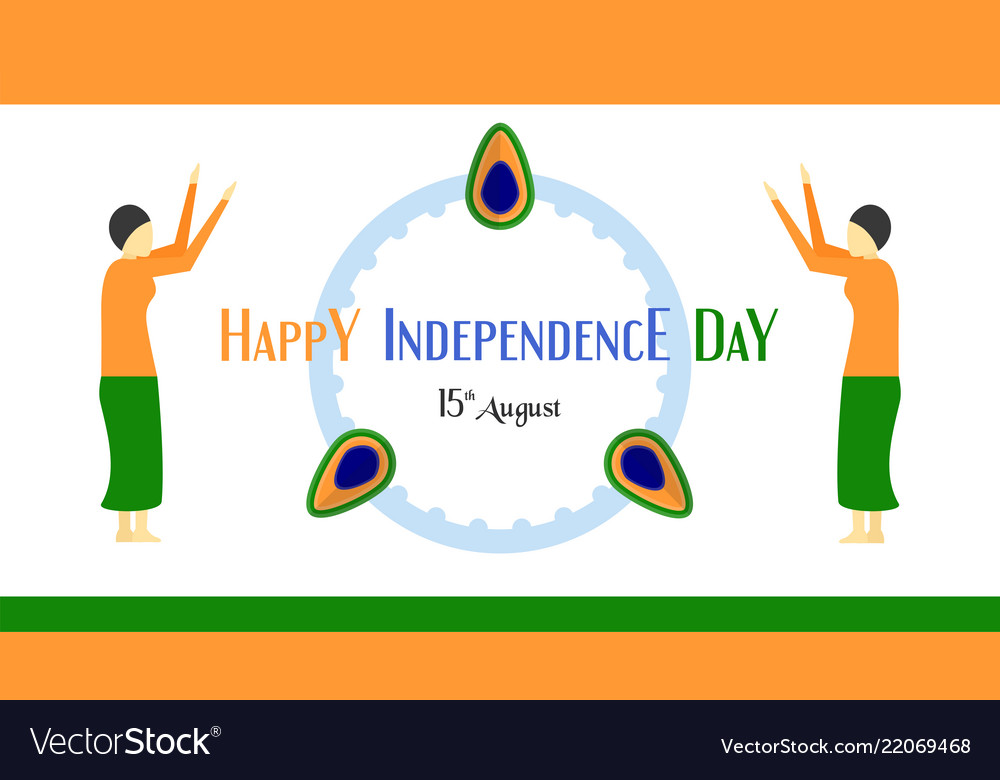 Happy independence day of india country and