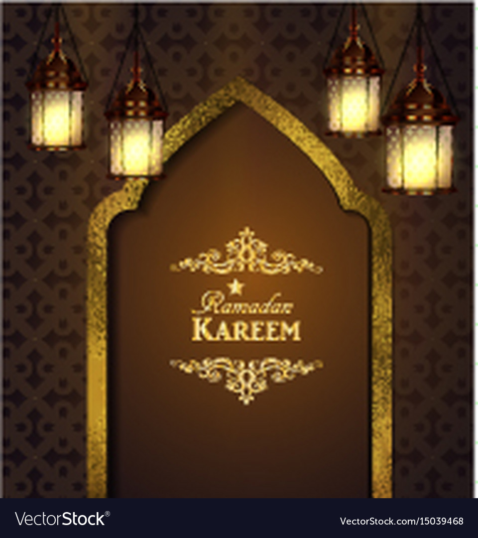 Islamic design mosque door vector image & Islamic design mosque door Royalty Free Vector Image