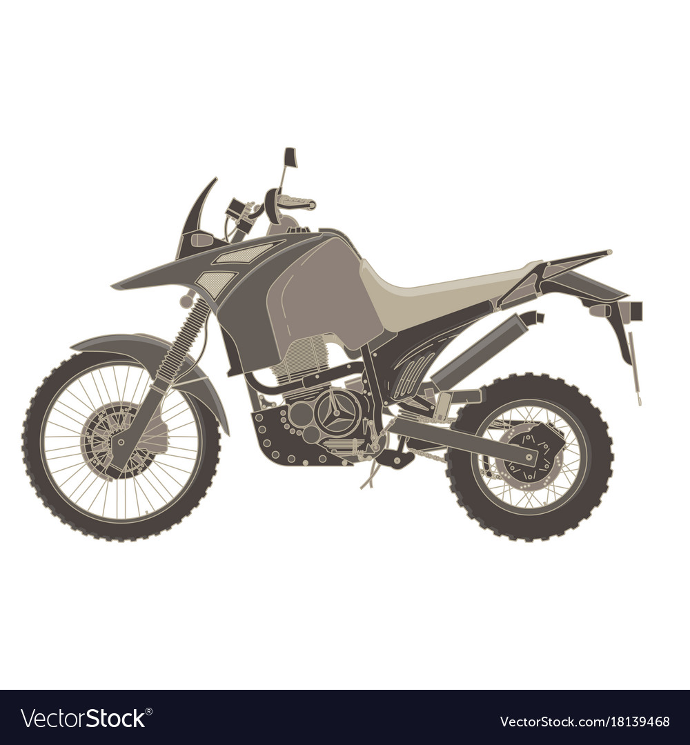 Motorbike flat icon isolated bike speed side view vector image
