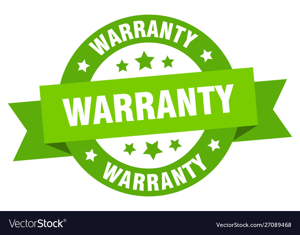 Warranty ribbon warranty round green sign warranty