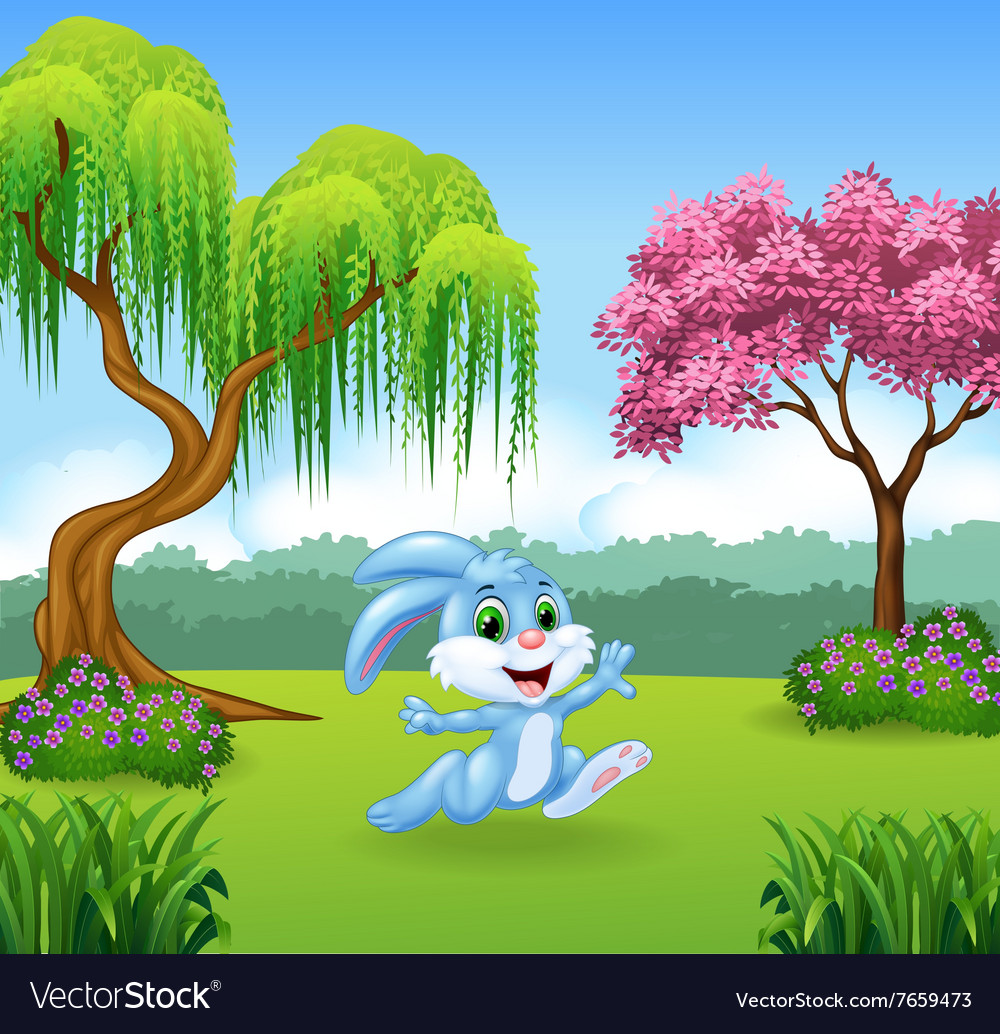 Cartoon Of Beautiful Forest Background Royalty Free Vector