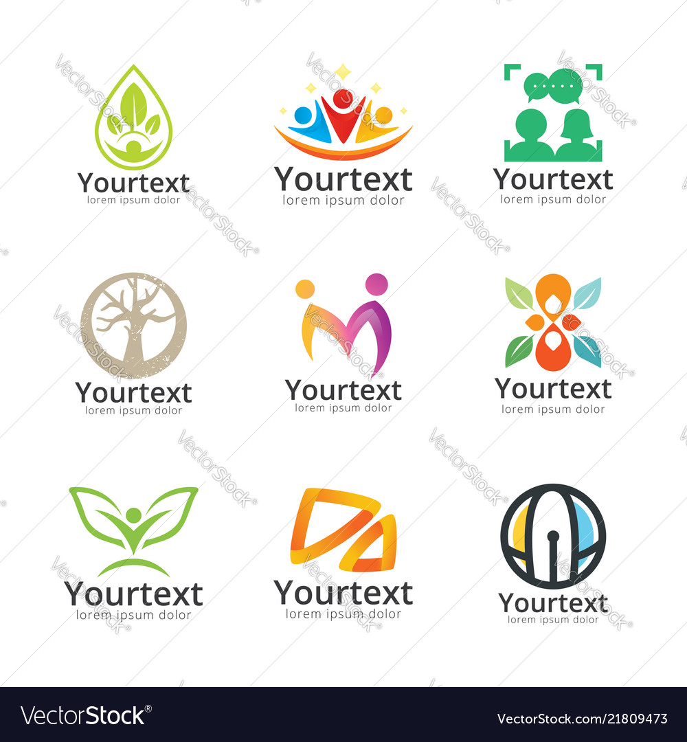 Collection of social and community logo