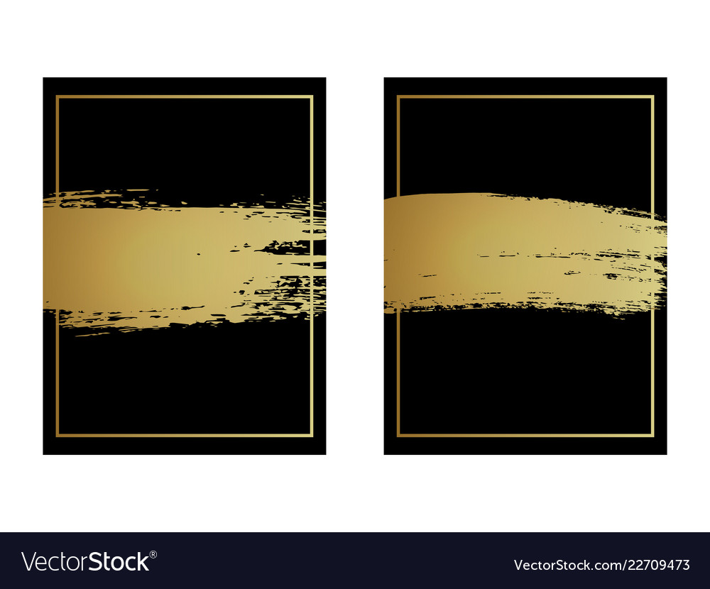 Creative background design hand drawn gold