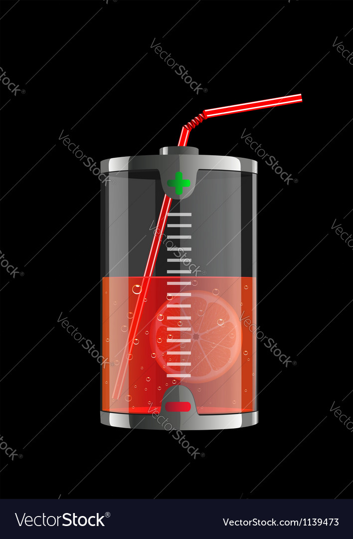 Energy orange vector image