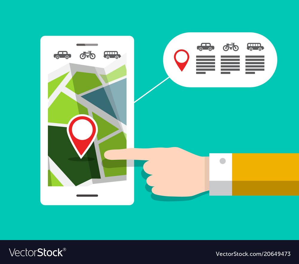Gps navigation - city map on mobile phone