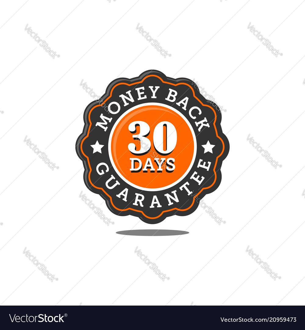 Guarantee badge seal stamp vector image on VectorStock