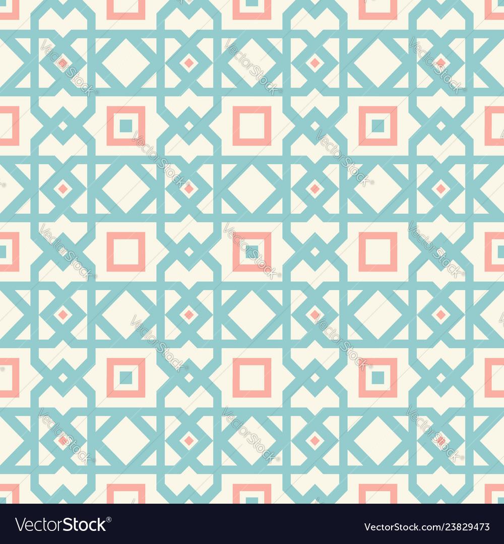 Retro abstract geometric pattern