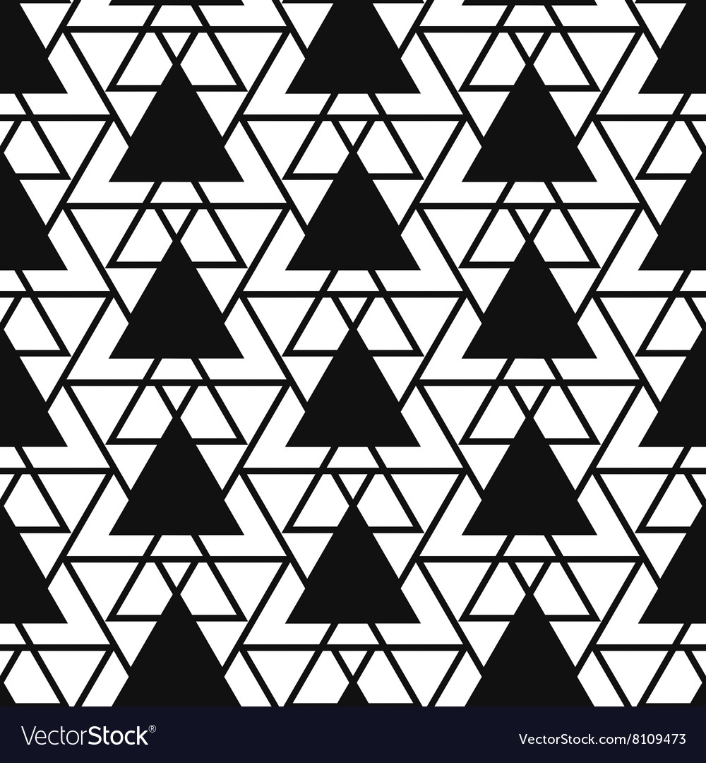 Simple triangle net shape black and white seamless