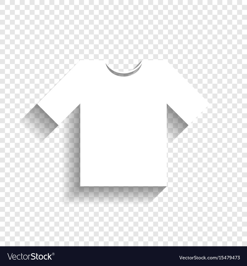 t shirt sign white icon royalty free vector image vectorstock