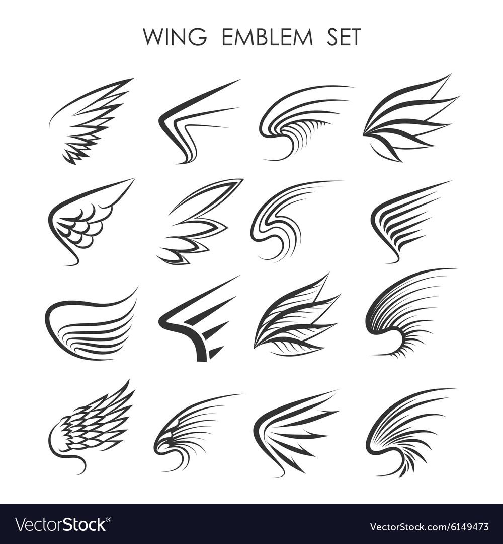 Wing Logo set vector image