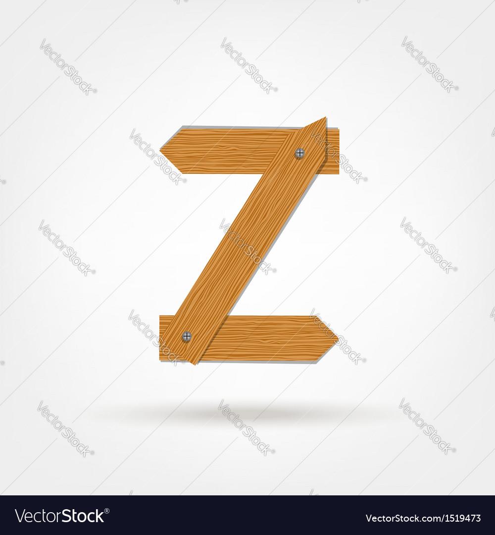 Wooden Boards Letter Z