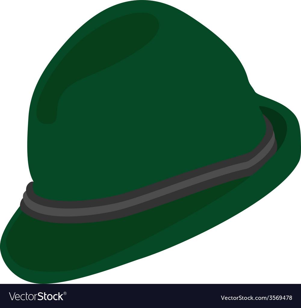 Green german hat