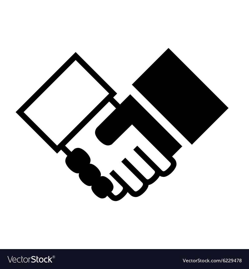 Handshake Simple Icon on White Background