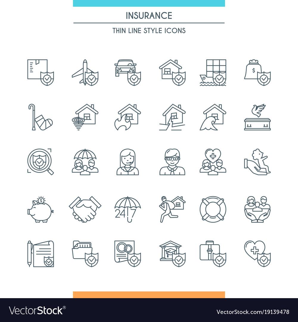 Icons set on theme insurance2