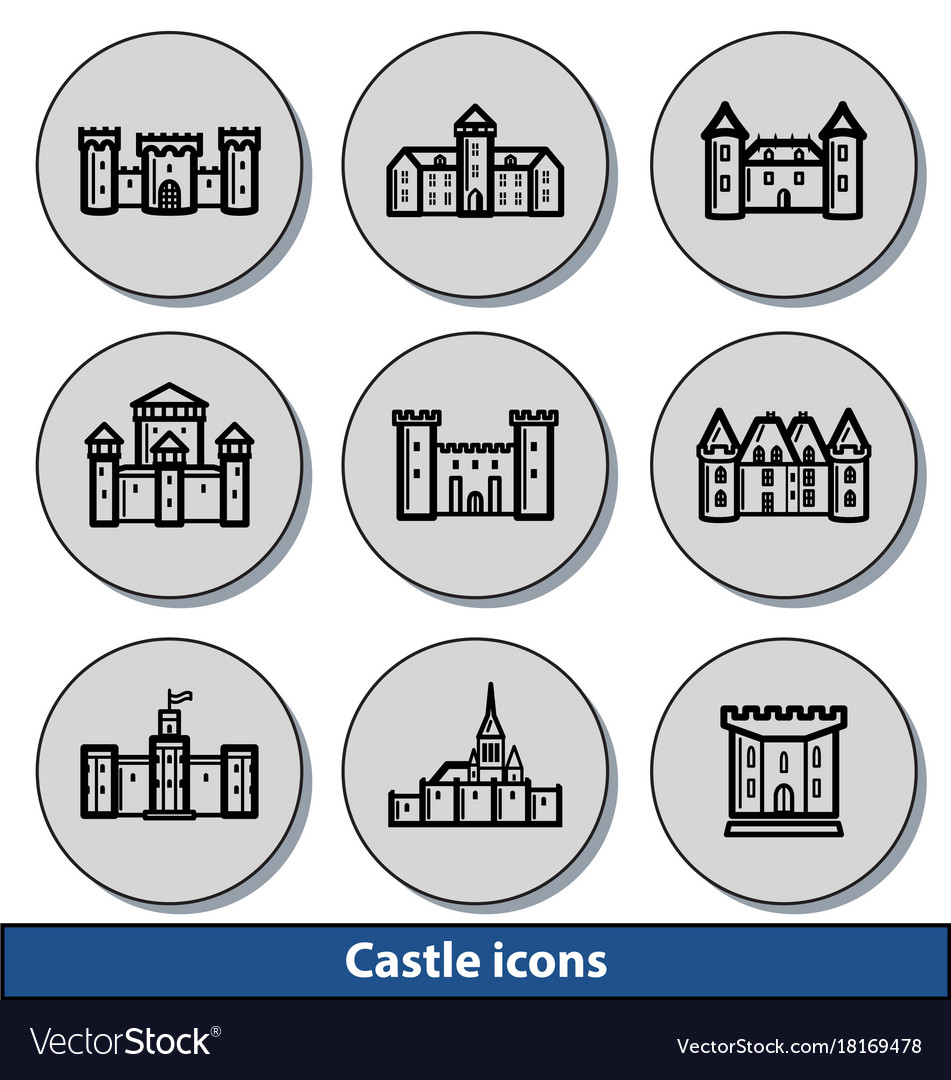 Light castle icons vector image