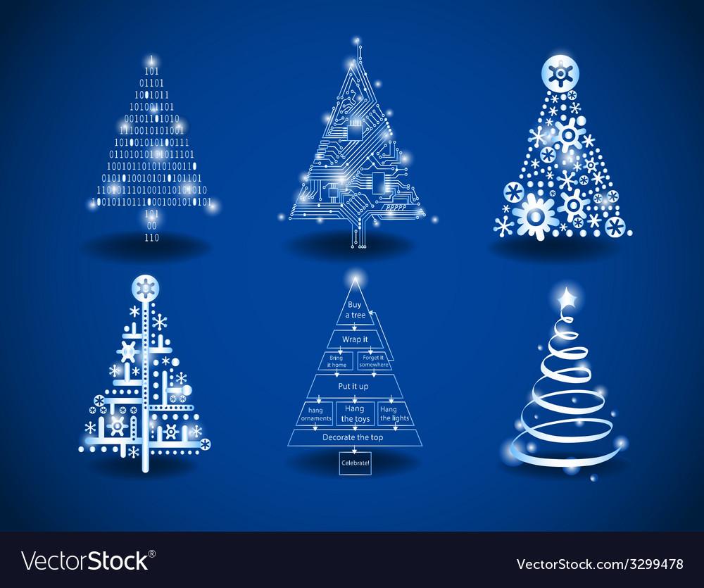Modern Christmas Trees.Modern Christmas Trees