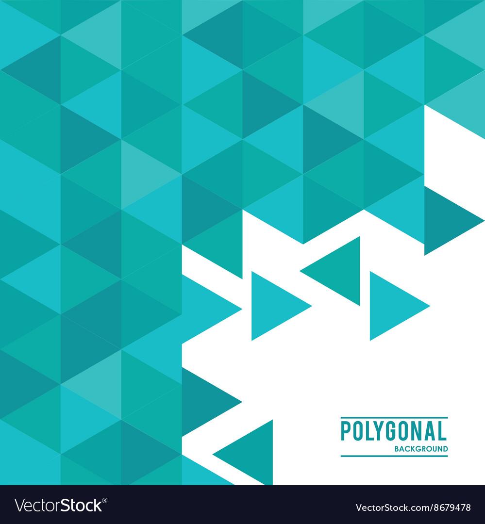 polygonal design geometric shape design royalty free vector