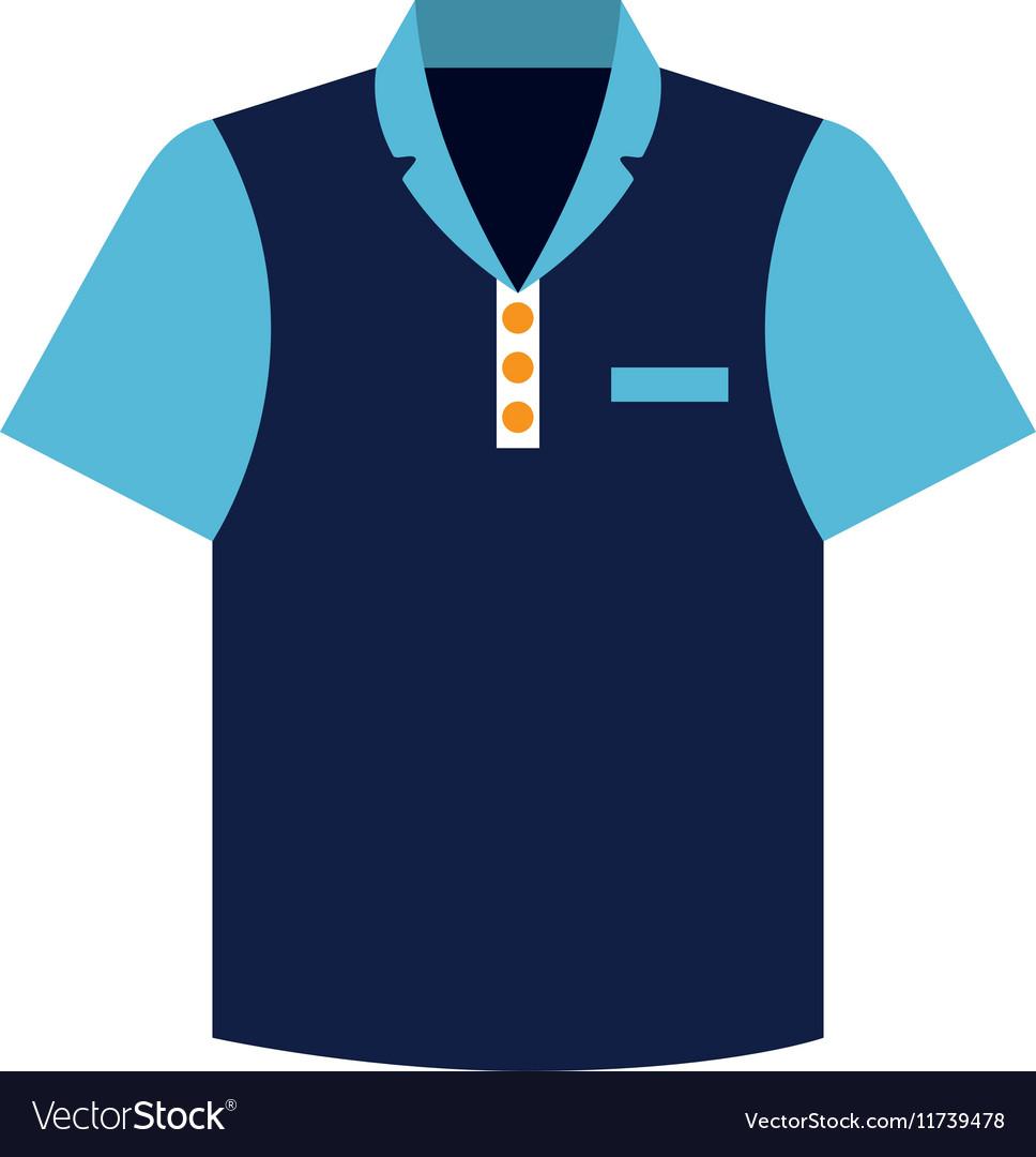 Tennis blue tshirt graphic icon vector image
