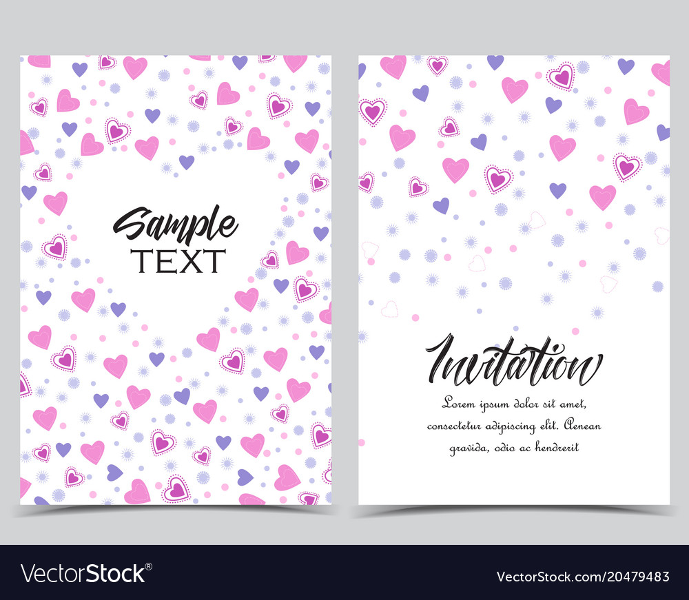 Background with heart decoration