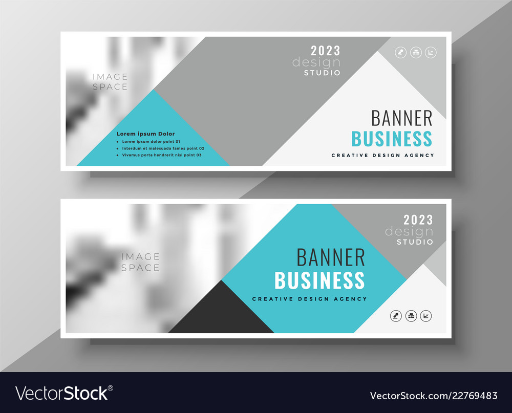 creative abstract business banners elegant design vector image vectorstock