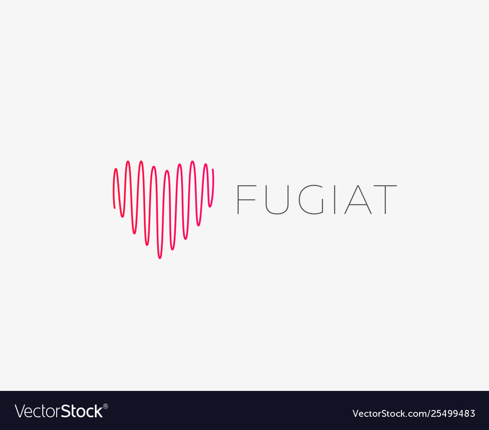 Heart line medical logotype valentines day