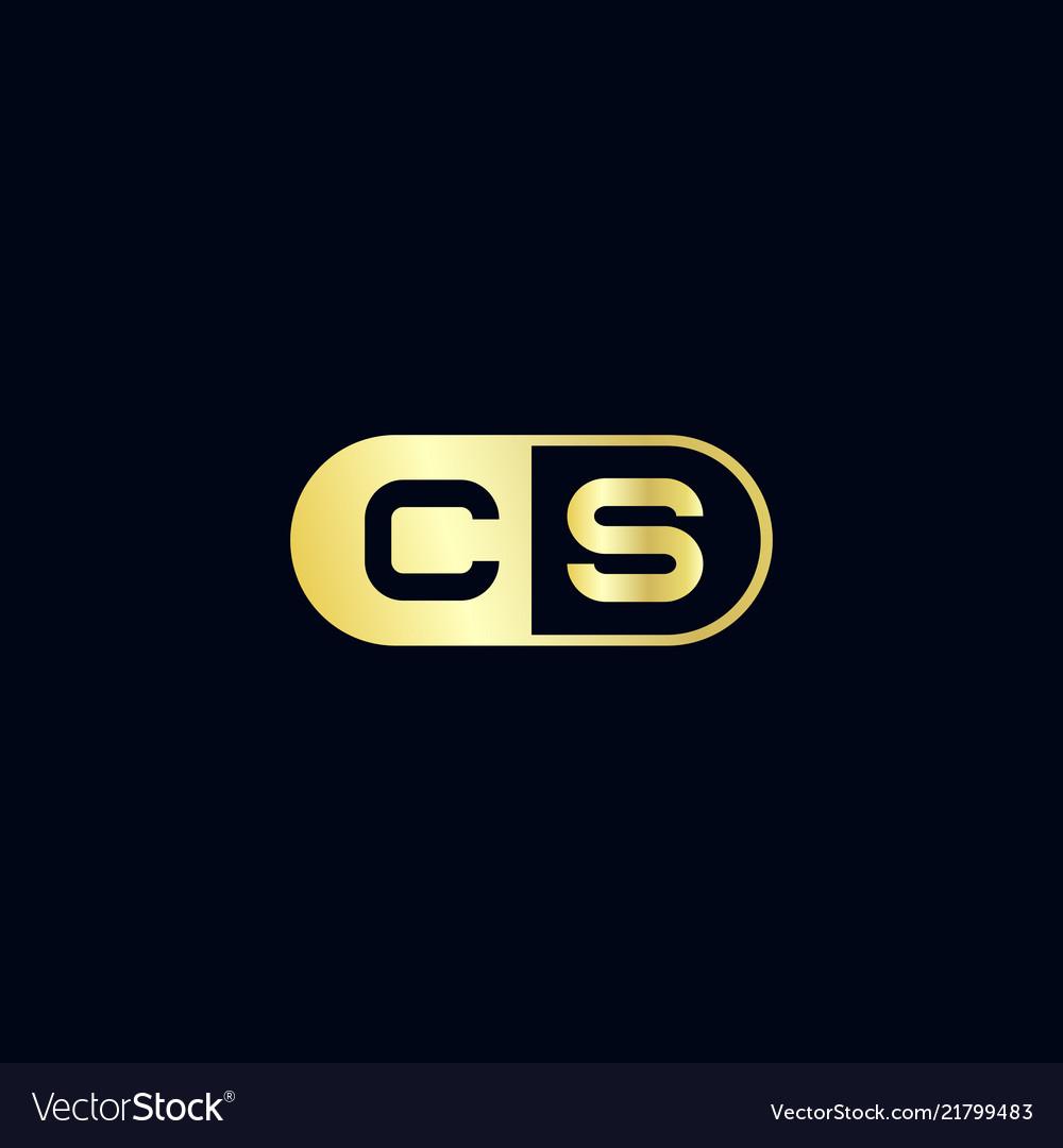 Initial letter cs logo template design