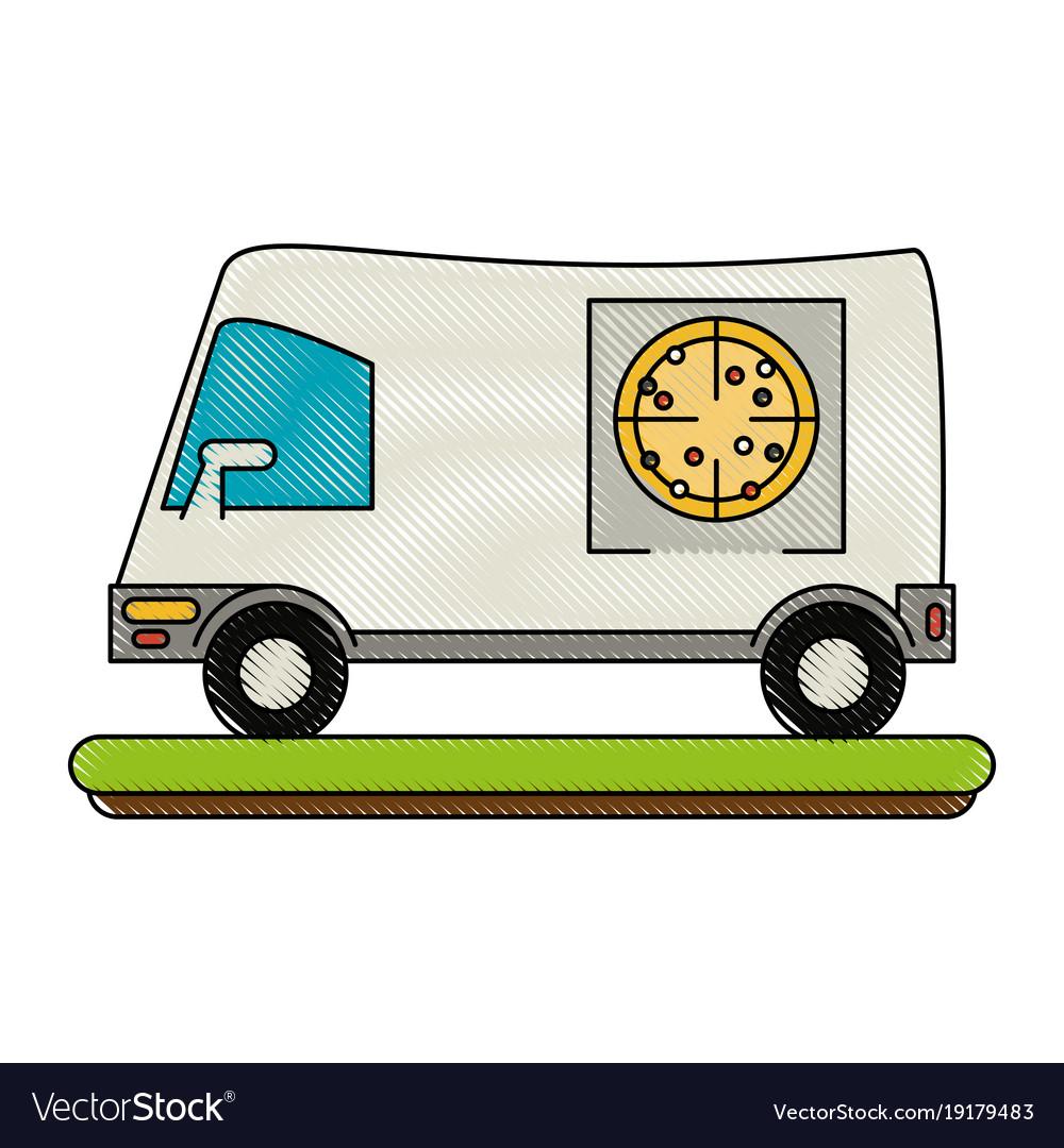 Pizza delivery van