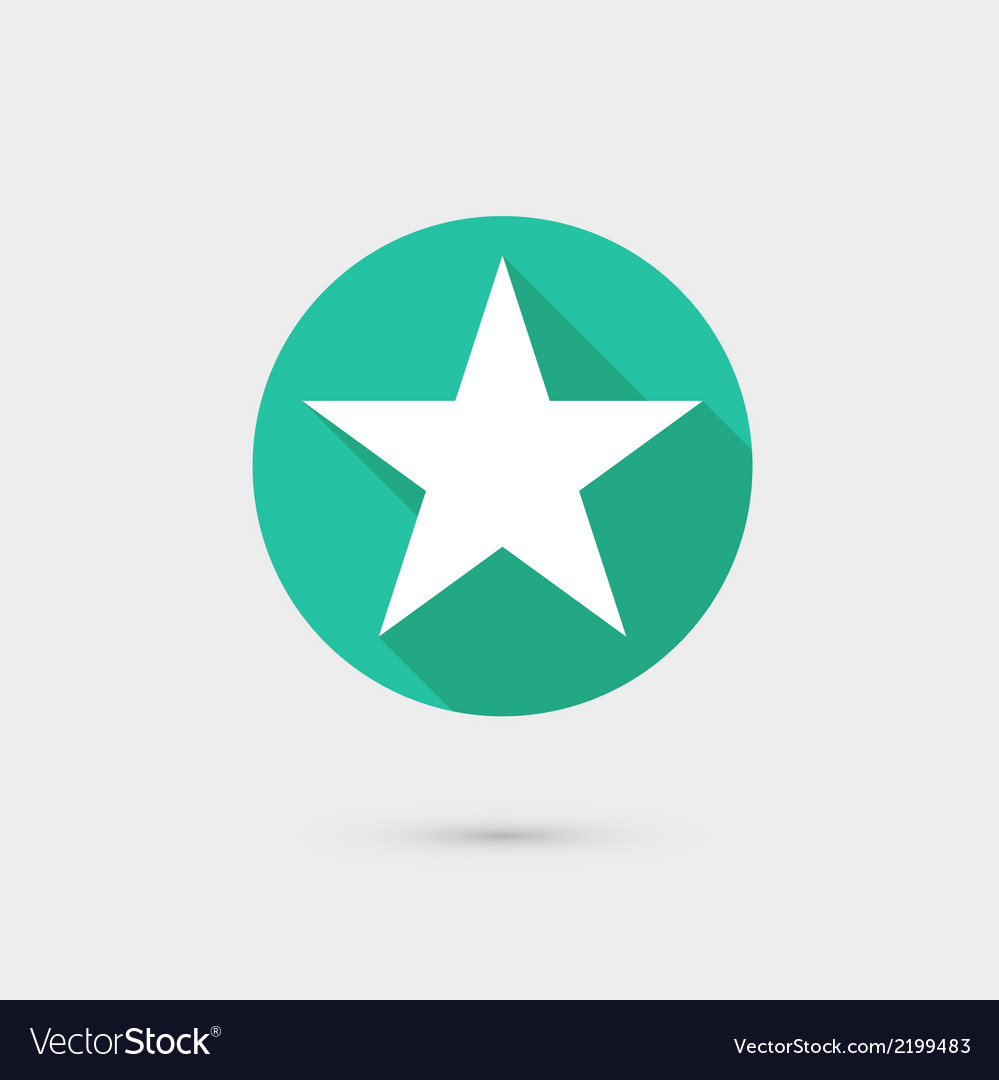 Star icon long shadow flat design