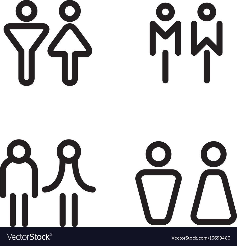Toilet restroom bathroom icons
