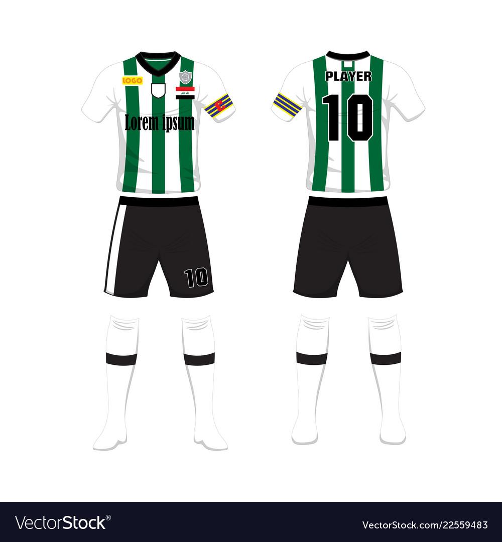 7e03d690d Uniform of football sport design template sport Vector Image