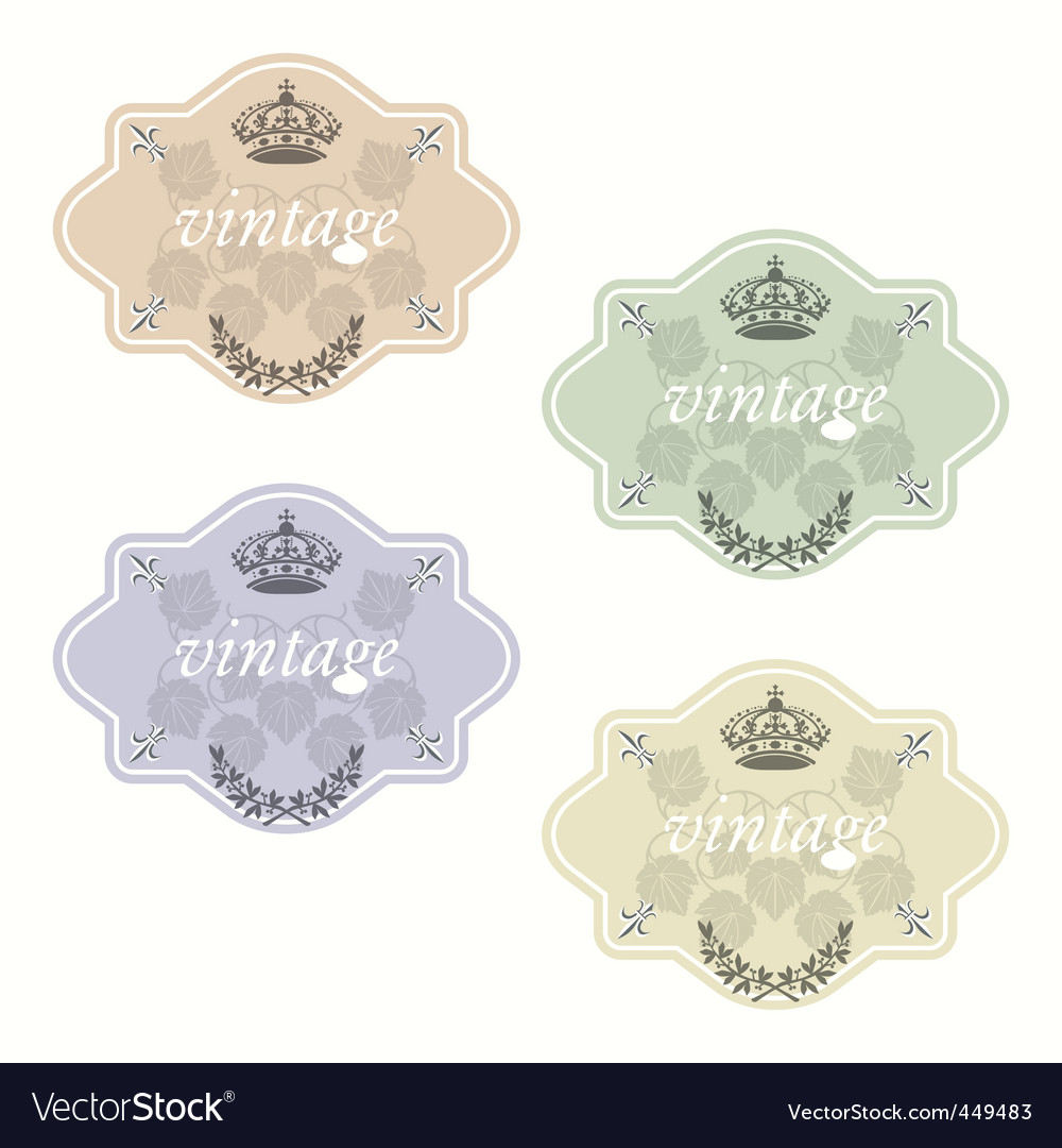 Wine labels16 vector image