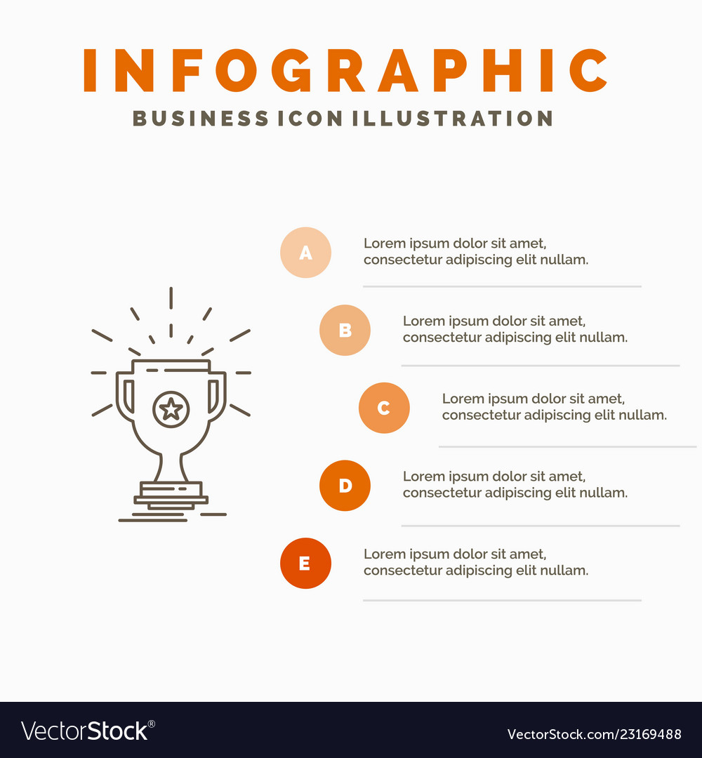 award trophy prize win cup infographics template vector image