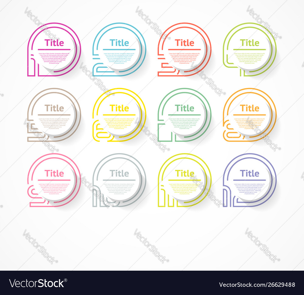 Circle infographic number options design