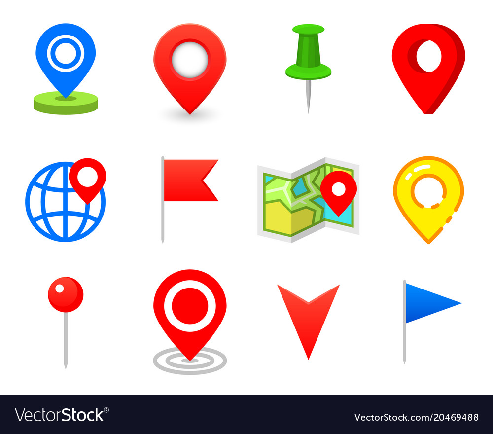 Geo pin as logo geolocation and navigation icon