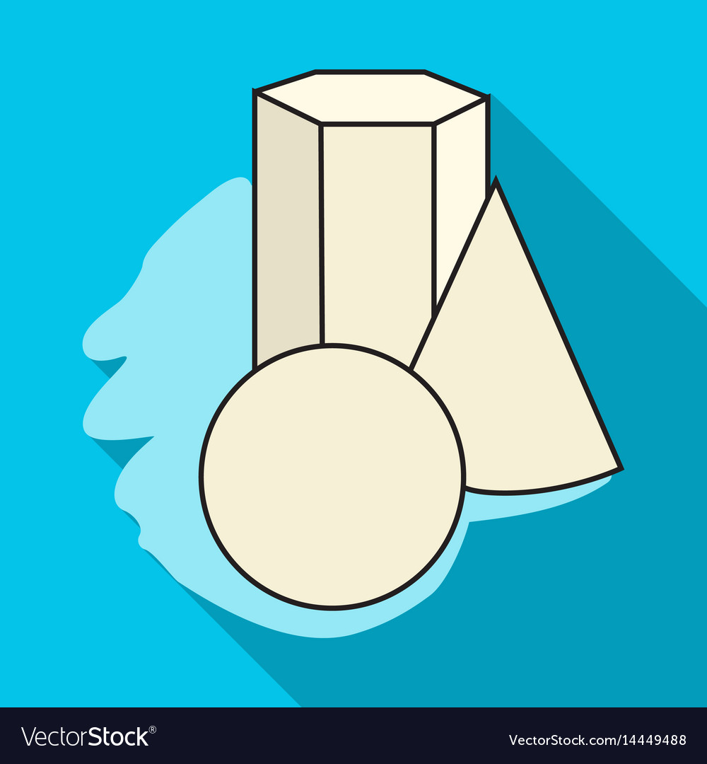 Geometric still life icon in flat style isolated