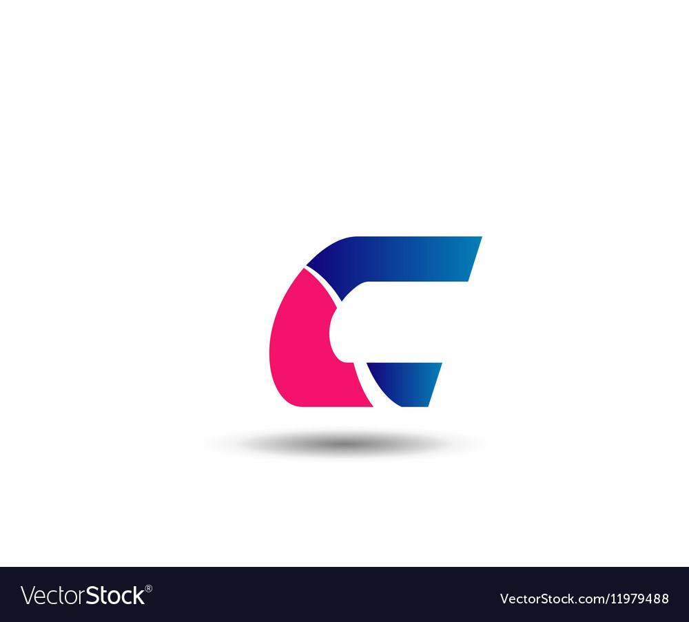 Letter c logo icon design template elements vector image