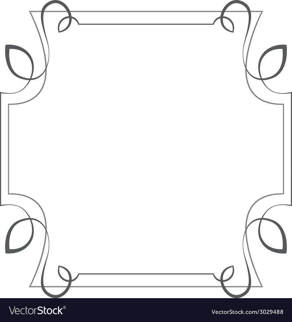 Square frame Element for design vector image