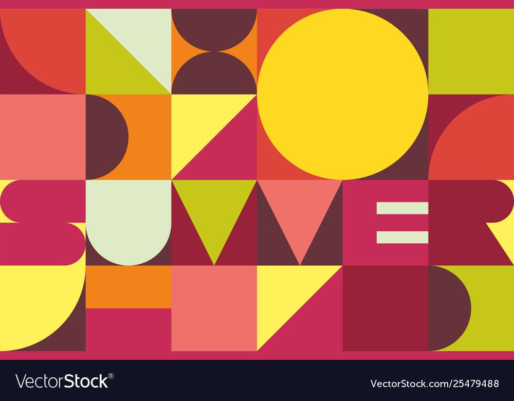 Summer trendy geometric background