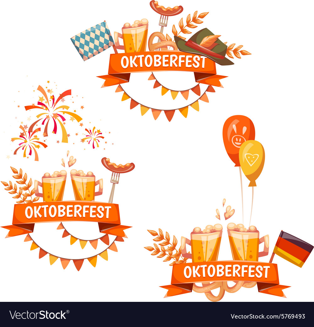 Banners for Oktoberfest celebration Beer and